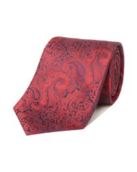 Simon Carter | Red Patterned Tie for Men | Lyst