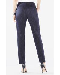 BCBGMAXAZRIA - Blue Elliot Faded Pinstripe Straight-leg Trousers - Lyst