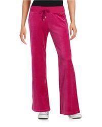 MICHAEL Michael Kors | Pink Velour Drawstring Pants | Lyst