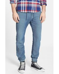 7 For All Mankind | Blue 'Sportif' Melange Knit Sweatpants for Men | Lyst