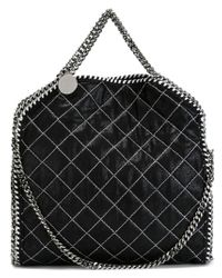 Stella McCartney - Black 'falabella' Quilted Tote - Lyst