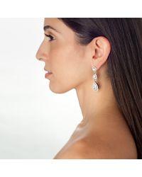 Kenneth Jay Lane | Metallic Linear Triple Drop Earrings | Lyst