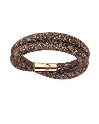Swarovski | Brown Stardust Wrap Bracelet | Lyst