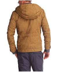 BOSS Orange Natural 'ojohnny-w' | Cotton Blend Utility Jacket With Hood for men