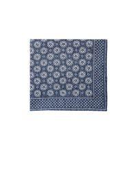 Thomas Mason | Gray Men's Medallion-pattern Canterbury Handkerchief for Men | Lyst