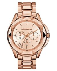 Karl Lagerfeld - Metallic 'karl 7' Chronograph Bracelet Watch - Lyst