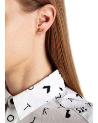 Vivienne Westwood - Metallic Nano Gold Tone Orb Earrings - Lyst