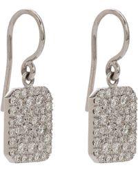 Finn - Pavé Diamond  White Gold Scapular Earrings - Lyst