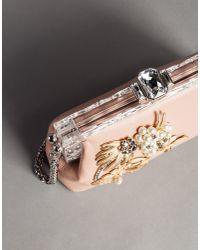 Dolce & Gabbana - Pink Vanda Calfskin Clutch With Brooches - Lyst