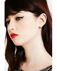 Urban Outfitters | Metallic Heart Ear Cuffs In Gold | Lyst