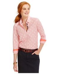 Tommy Hilfiger | Pink Printed Button-down Shirt | Lyst