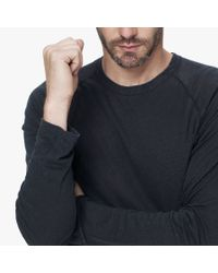 James Perse | Black Linen Cotton Raglan for Men | Lyst