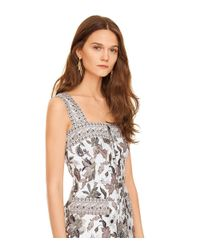 Tory Burch - White Mikado Zip-front Dress - Lyst