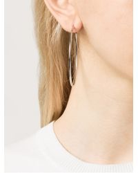 Michael Kors - Metallic Skinny Hoop Earrings - Lyst