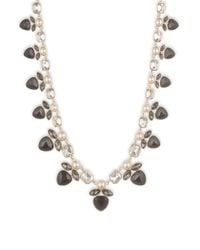 Anne Klein | Metallic Multi-stone Faux Gem Goldtone Collar Necklace | Lyst