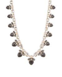 Anne Klein - Metallic Multi-stone Faux Gem Goldtone Collar Necklace - Lyst