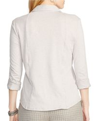 Lauren by Ralph Lauren | Gray Plus Jersey Workshirt | Lyst