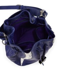 Khirma Eliazov - Blue Watersnake Mini Bucket Bag - Lyst