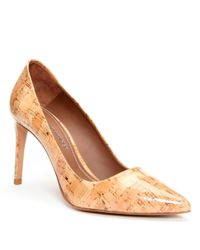 Donald J Pliner. Women's Natural Patent Cork Pump