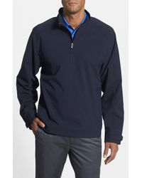 Cutter & Buck | Black 'summit' Weathertec Wind & Water Resistant Half Zip Jacket for Men | Lyst