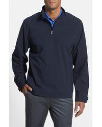 Cutter & Buck   Black 'summit' Weathertec Wind & Water Resistant Half Zip Jacket for Men   Lyst