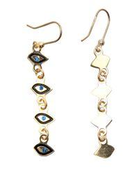 Maria Francesca Pepe - Metallic Charm Drop Earrings - Lyst