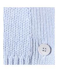 Miu Miu - Blue Cashmere Button-Down Cardigan - Lyst