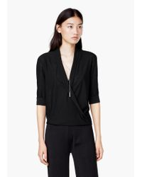 Mango | Black Chain Flowy Blouse | Lyst
