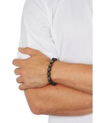 Nialaya - Lava Black Beaded Bracelet for Men - Lyst