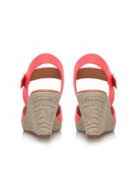 Miss Kg - Pink Pineapple Mid Wedge Heel Sandals - Lyst