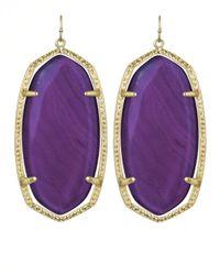 Kendra Scott - Danielle Earrings Purple Agate - Lyst