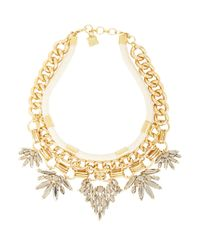 BCBGMAXAZRIA - Metallic Rope And Stone Statement Necklace for Men - Lyst