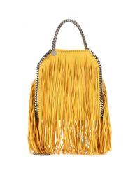 Stella McCartney - Yellow Falabella Small Fringed Shoulder Bag - Lyst