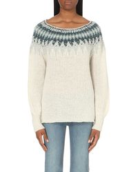 Free People | White Baltic Fairisle Abstract-knit Jumper | Lyst