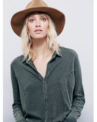 Free People | Green We The Free Blue Moon Henley | Lyst
