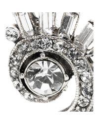 Ben-Amun - White Crystalembellished Earrings - Lyst