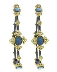 Armenta - Metallic Cravelli Cross Hoop Earring - Lyst