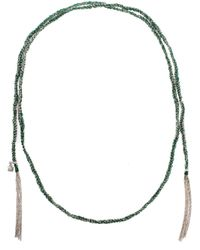 Carolina Bucci | Green 18Kt Gold And Silk Lariat Necklace | Lyst