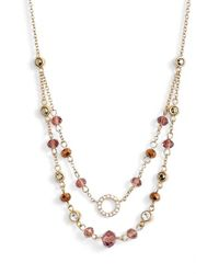Judith Jack | Metallic Multistrand Beaded Collar Necklace | Lyst