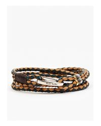 Paul Smith | Brown Men'S Vegetable Dyed Leather Wraparound Bracelet for Men | Lyst
