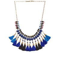 Isabel Marant - Blue Tasseled Necklace - Lyst