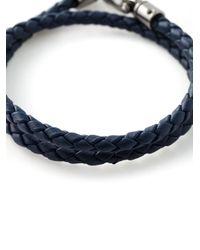 Tod's | Blue Double Wrap Woven Bracelet for Men | Lyst