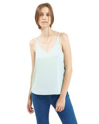 TOPSHOP - Blue Strappy V-Neck Camisole - Lyst