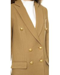 Nicholas - Brown Wool Double Breasted Coat Camel - Lyst