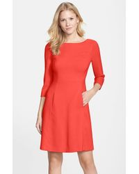Vince Camuto | Pink Crepe A-Line Dress | Lyst