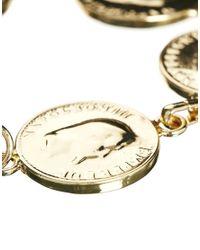 ASOS - Metallic Coins Bracelet - Lyst