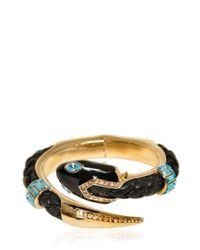 Roberto Cavalli - Metallic Swarovski Gold Plated Bracelet - Lyst