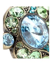 Lanvin - Green Crystalembellished Ring - Lyst