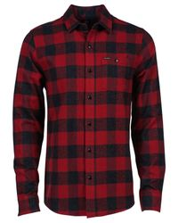 Volcom | Black Echo Check Flannel Long-sleeve Shirt for Men | Lyst