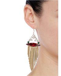 Iosselliani | Multicolor Marquise Cut Crystal Fringe Drop Earrings | Lyst